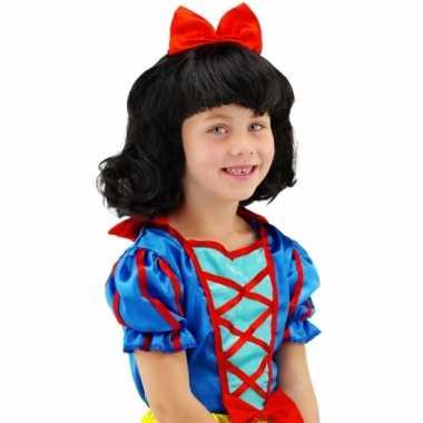Goedkoop prinsessen kinder pruik strik carnavalskleding