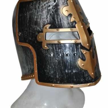 Goedkoop  Ridder helmen zwart goud carnavalskleding