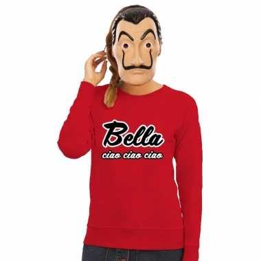 Goedkoop rode bella ciao sweater la casa papel masker dames carnavals