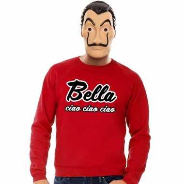 Goedkoop rode bella ciao sweater la casa papel masker heren carnavals