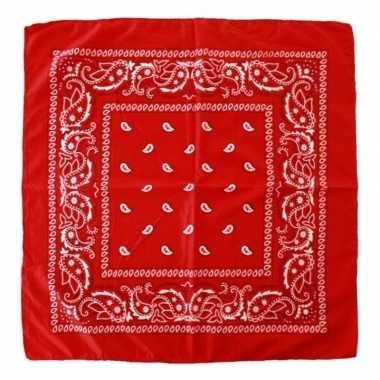 Goedkoop rode boeren zakdoek carnavalskleding
