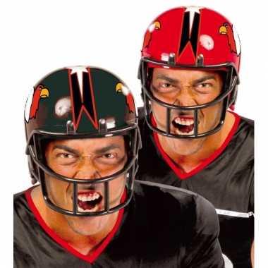Goedkoop rode rugby sporters helm carnavalskleding