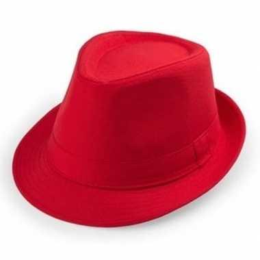 Goedkoop rode trilby hoedjes volwassenen carnavalskleding
