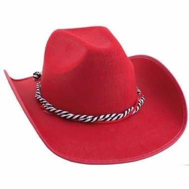 Goedkoop rode western hoed carnavalskleding