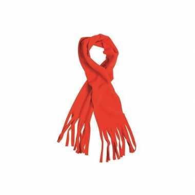 Goedkoop rode winter fleece sjaal franjes carnavalskleding