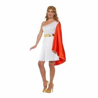 Goedkoop romeins verkleed jurkje dames carnavalskleding