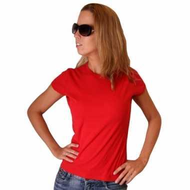 Goedkoop rood bella shirt dames carnavalskleding