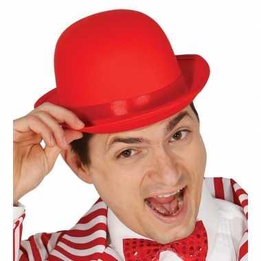 Goedkoop rood bolhoedje volwassenen carnavalskleding