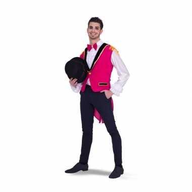 Goedkoop roze circus carnavalskleding heren