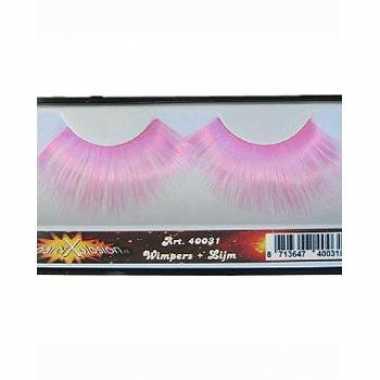 Goedkoop roze feest wimpers carnavalskleding