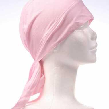 Goedkoop  Roze gekleurde hoofddoek carnavalskleding
