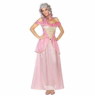 Goedkoop roze prinsessen verkleed jurk dames carnavalskleding