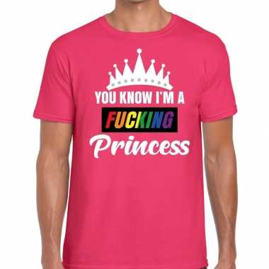 Goedkoop roze you know i am a fucking princess gay pride t shirt here