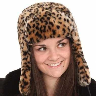 Goedkoop russische bontmuts tijgerprint carnavalskleding