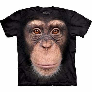 Goedkoop safari dieren shirts chimpansee aap volwassenen carnavalskle