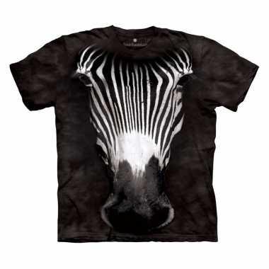 Goedkoop safari dieren shirts zebra volwassenen carnavalskleding
