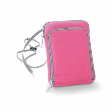 Goedkoop schoudertasjes roze polyester carnavalskleding