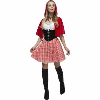 Goedkoop sexy roodkapje jurkje dames carnavalskleding