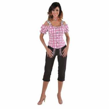Goedkoop sexy rozee blouse blote schouders carnavalskleding