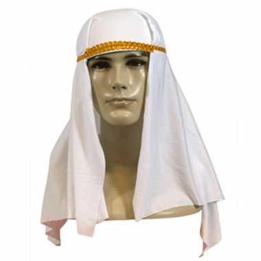 Goedkoop  Sheik hoofddoek wit carnavalskleding