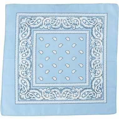 Goedkoop sjaal lichtblauw print carnavalskleding