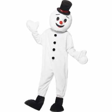 Goedkoop sneeuwman mascotte carnavalskleding