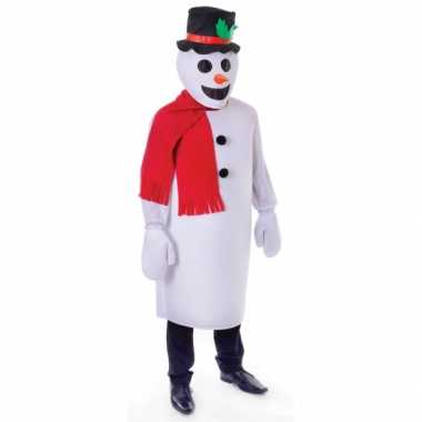 Goedkoop sneeuwpop carnavalskleding volwassenen