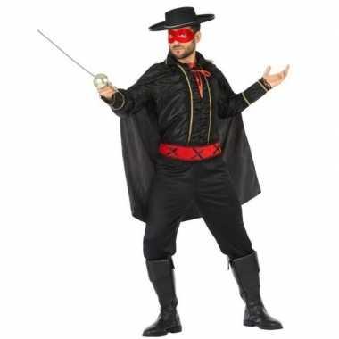 Goedkoop spaanse held zwart/rood verkleed carnavalskleding heren