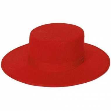 Goedkoop spaanse hoeden rood carnavalskleding