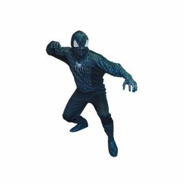 Goedkoop spinnenheld carnavalskleding zwart heren