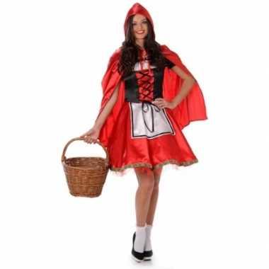 Goedkoop sprookjes carnavalskleding roodkapje dames