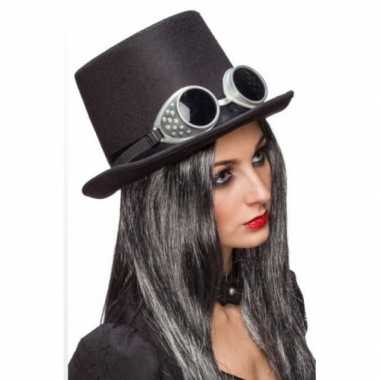 Goedkoop steampunk thema hoed bril carnavalskleding