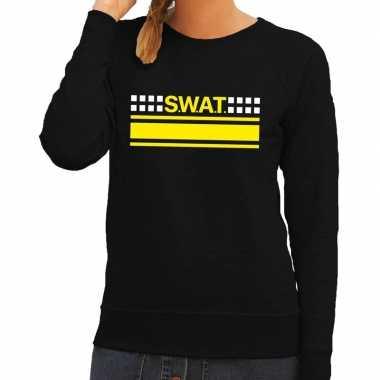 Goedkoop swat team logo sweater zwart dames carnavalskleding