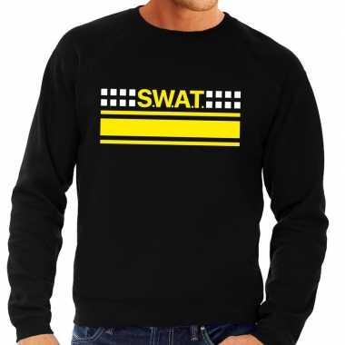 Goedkoop swat team logo sweater zwart heren carnavalskleding