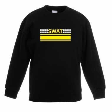 Goedkoop swat team logo sweater zwart kinderen carnavalskleding