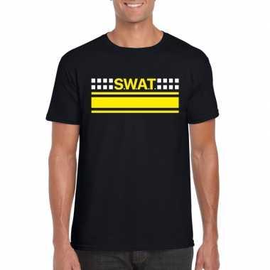 Goedkoop swat team logo t shirt zwart heren carnavalskleding