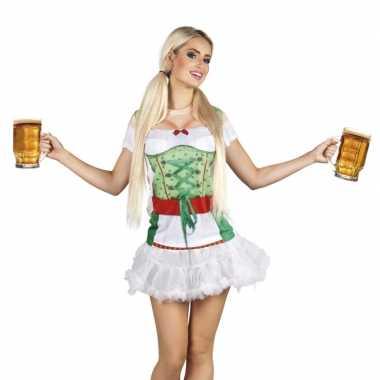 Goedkoop tiroler heidi oktoberfest damesshirt carnavalskleding