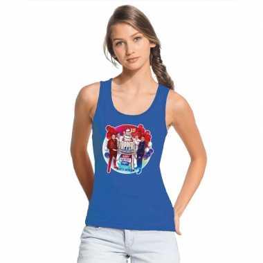 Goedkoop toppers blauw toppers concert officieel mouwloos shirt dames