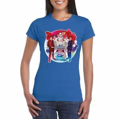 Goedkoop toppers blauw toppers concert officieel t shirt dames carnav
