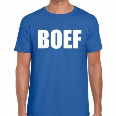 Goedkoop toppers boef heren t shirt blauw carnavalskleding