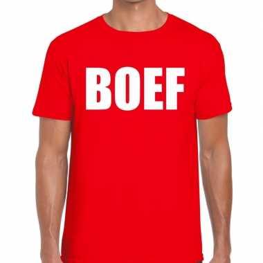Goedkoop toppers boef heren t shirt rood carnavalskleding