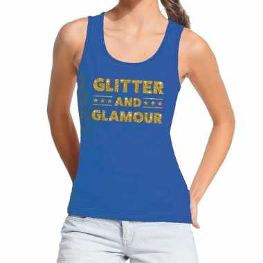 Goedkoop toppers glitter and glamour glitter tanktop / mouwloos shirt