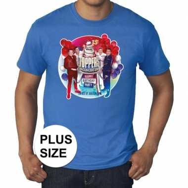 Goedkoop toppers grote maten blauw toppers concert officieel shirt he