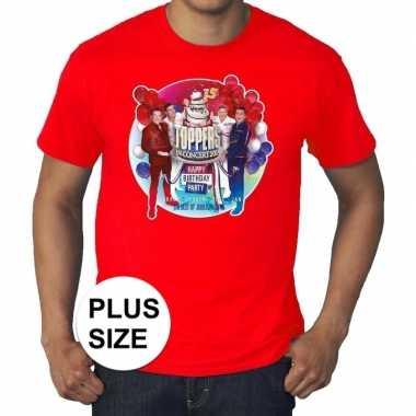 Goedkoop toppers grote maten roodtoppers concert officieel shirt here