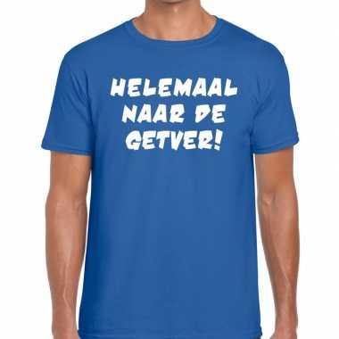 Goedkoop toppers helemaal naar getver heren t shirt blauw carnavalskl