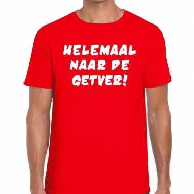 Goedkoop toppers helemaal naar getver heren t shirt rood carnavalskle