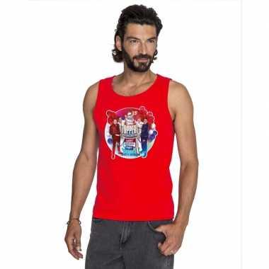 Goedkoop toppers rood toppers concert officieel mouwloos shirt heren