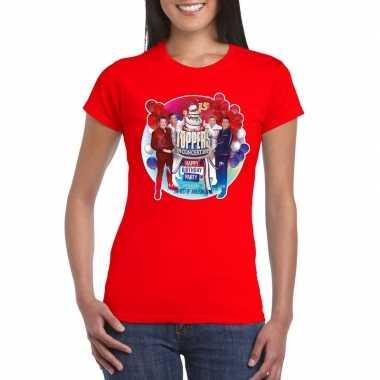 Goedkoop toppers rood toppers concert officieel t shirt dames carnava
