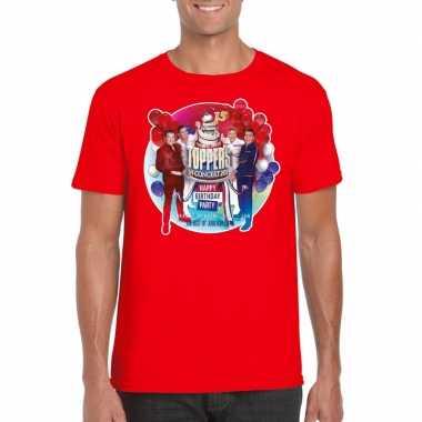 Goedkoop toppers rood toppers concert officieel t shirt heren carnava
