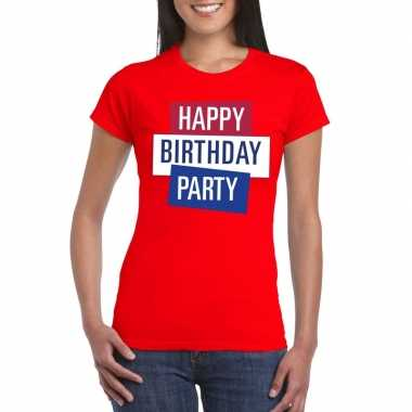 Goedkoop toppers rood toppers happy birthday party dames t shirt offi